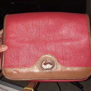 Vintage Dooney & Bourke Red Leather Purse